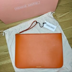 Mansur Gavriel Calf Leather Large Wallet Wristlet